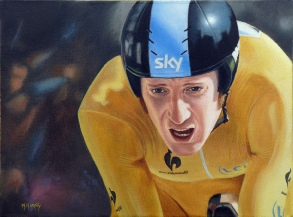 Sir Bradley Wiggins, The Pain And The Glory by Matthew Harvey